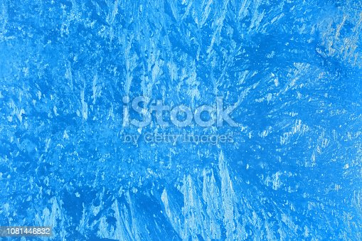166319867 istock photo Blue frosted glass background 1081446832