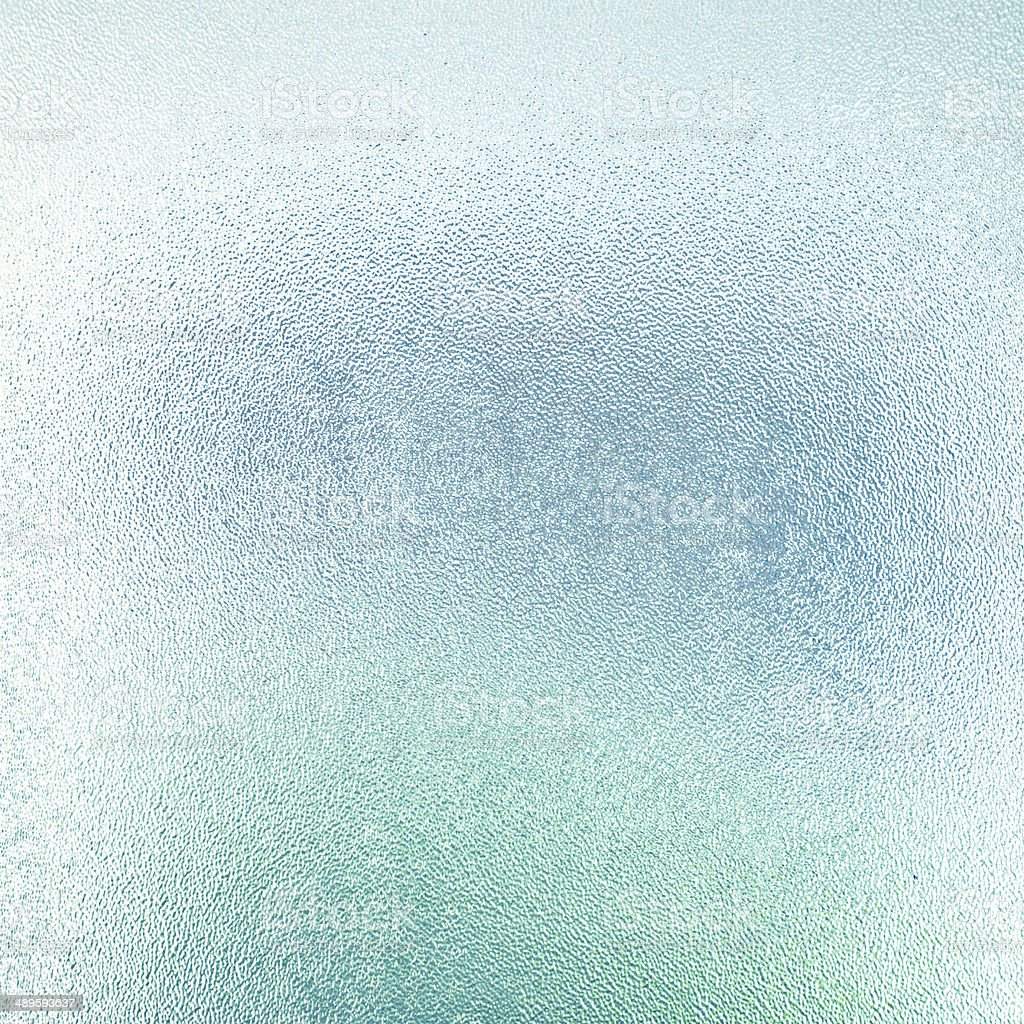 Blue frosted glass texture stock photo