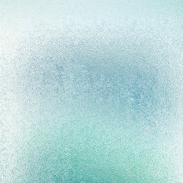 blue mattglas textur - farbiges glas stock-fotos und bilder