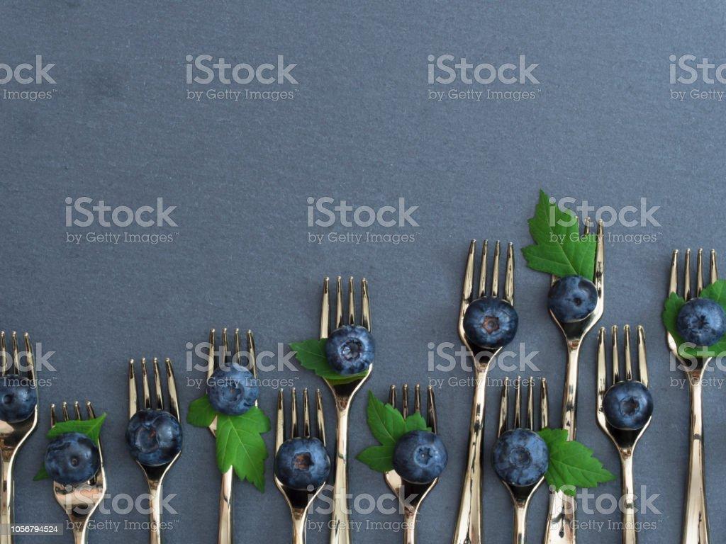blue fruit arrangement stock photo
