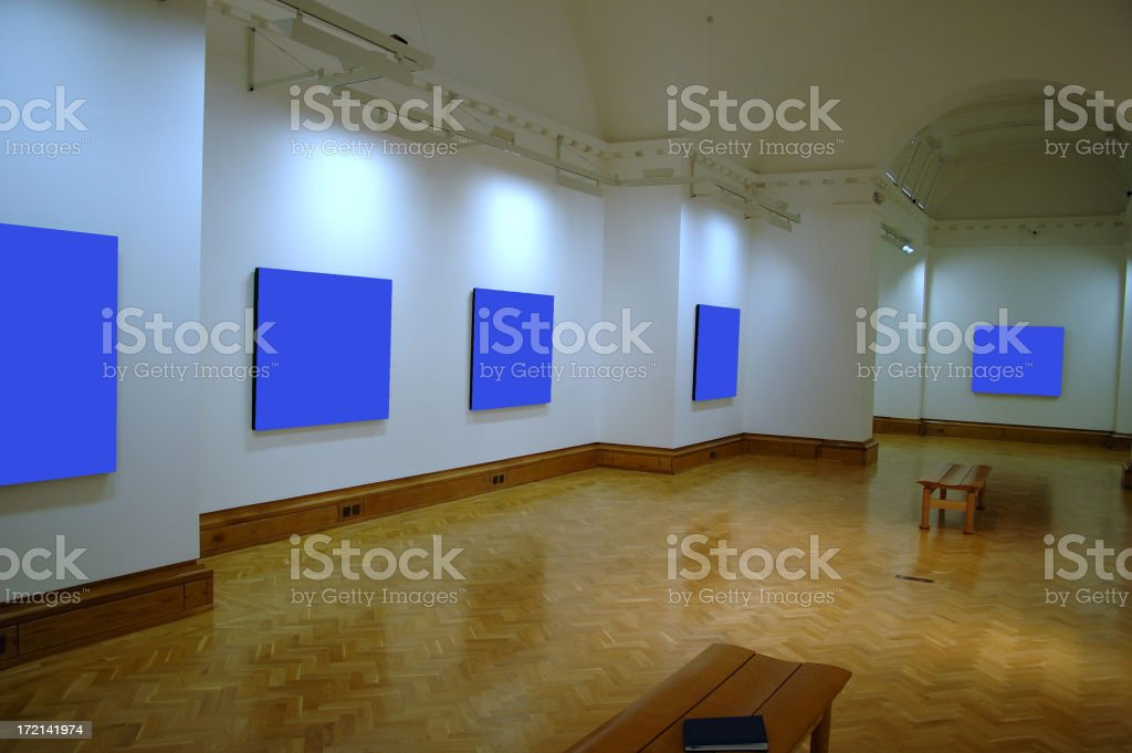 blue gallery royalty-free stock photo