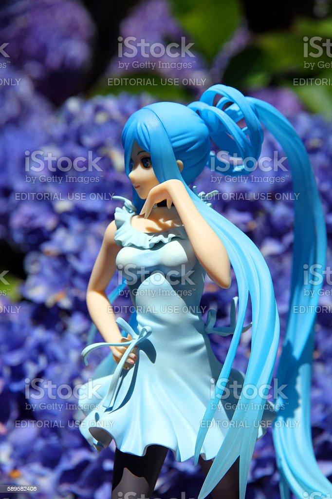 Blue Garden stock photo