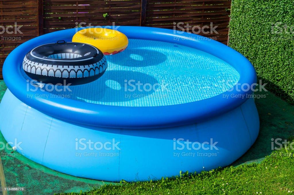 blue garden pool