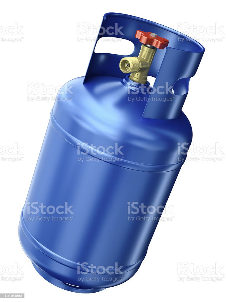 Blaue gas container – Foto