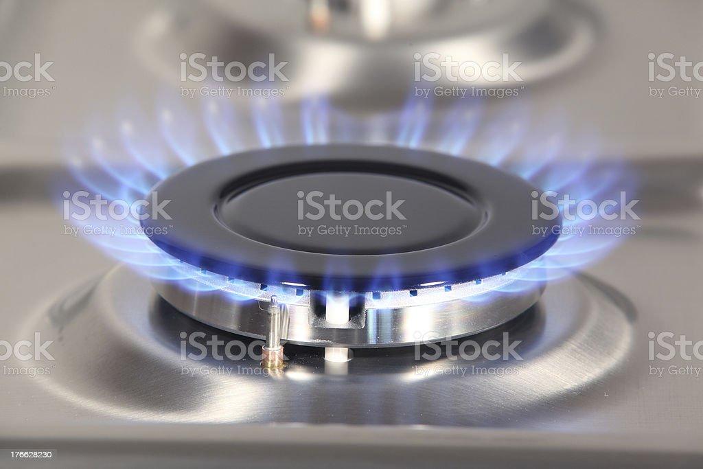 Blaue gas flame – Foto