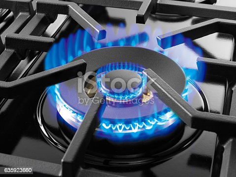 istock Blue gas flame 635923660