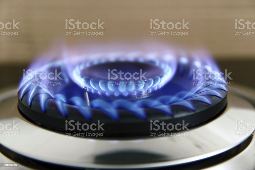 blue gas flame royalty-free stock photo