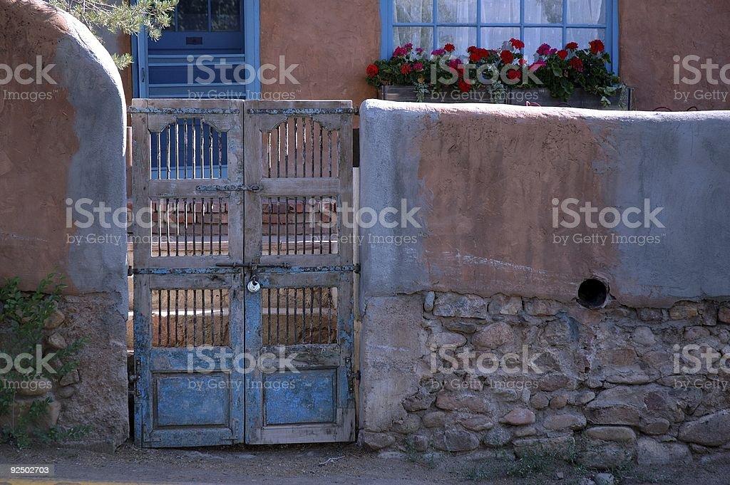 blue gate royalty-free stock photo
