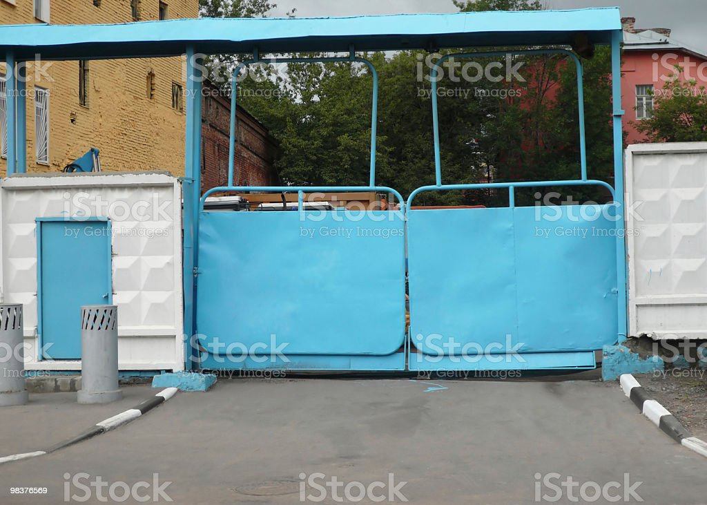 blue gate royalty-free stock photo