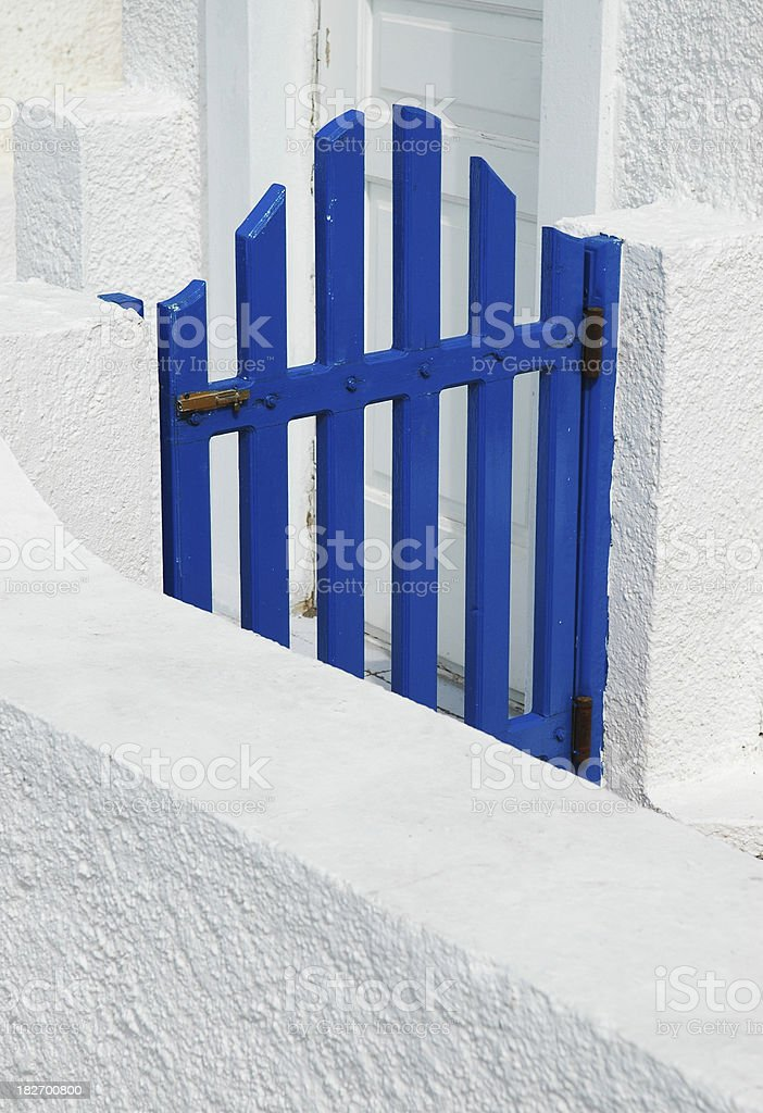 Blue Gate to Unknown Destination royalty-free stock photo