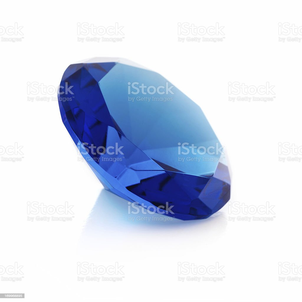Blue gem royalty-free stock photo