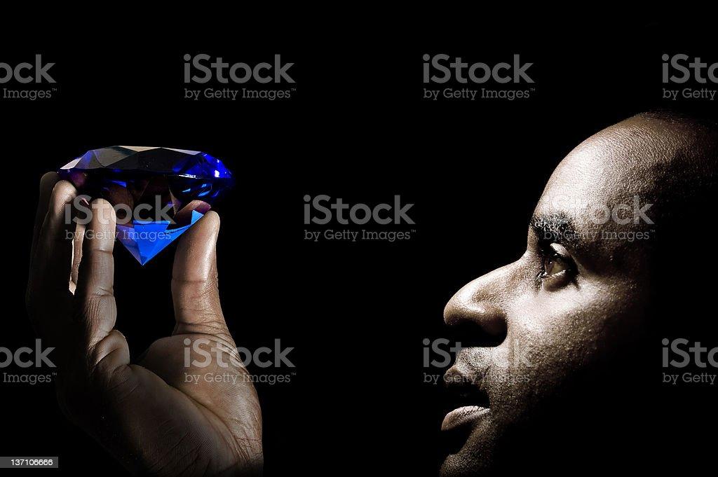 Blue gemstone stock photo