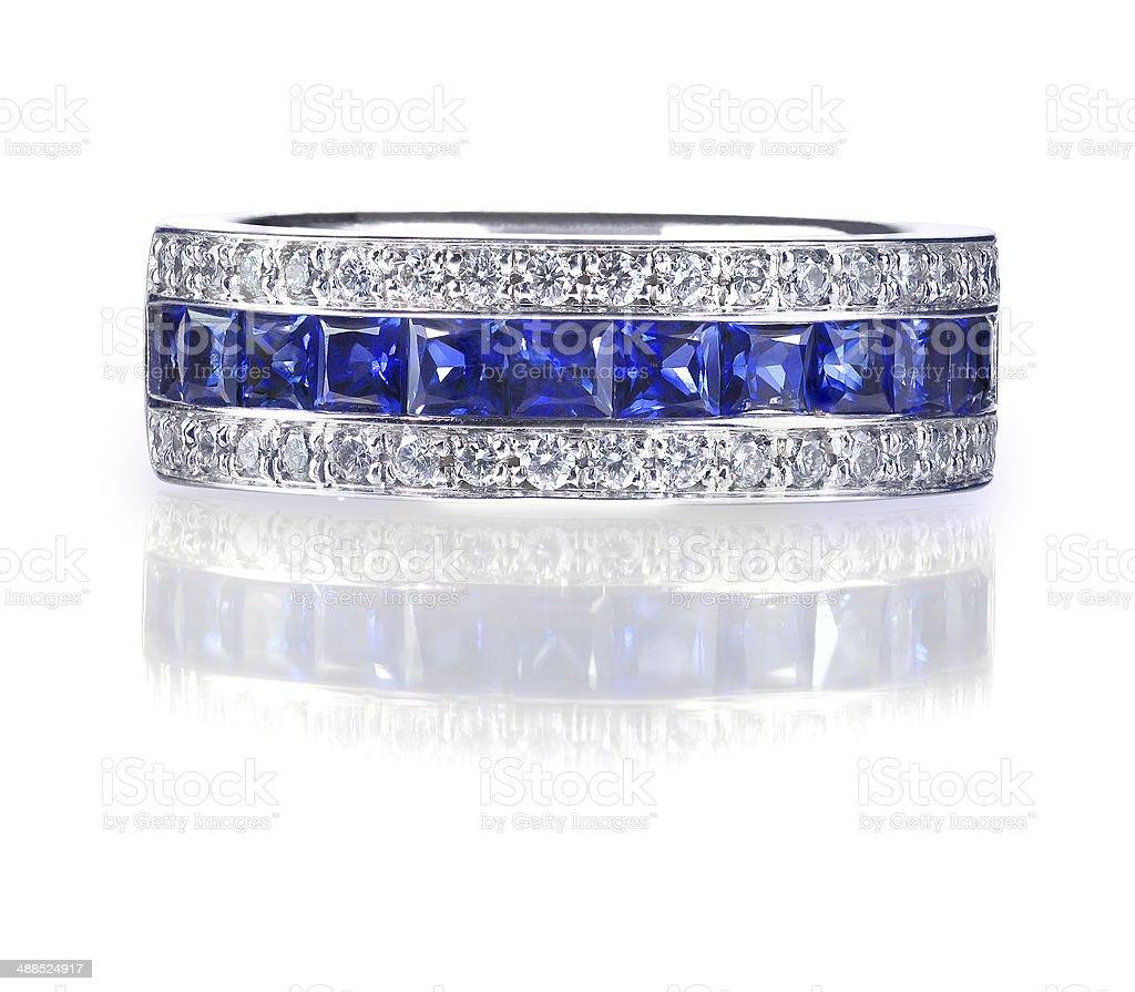 Blue Gemstone Ring stock photo