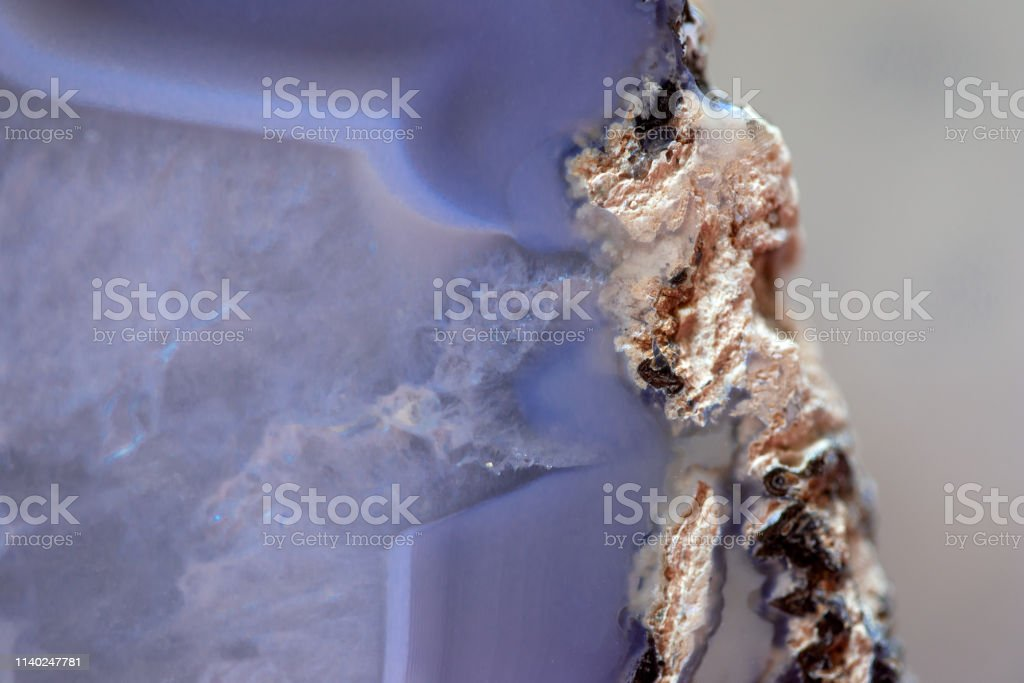 Blue Geode Close UP stock photo