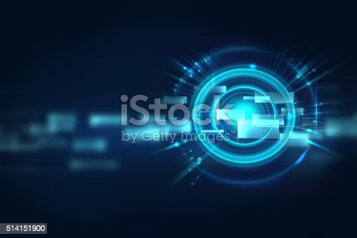 istock blue geometric circular shape abstract technology background 514151900