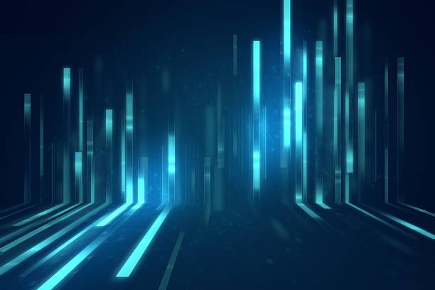 blue geometric  shape abstract technology background stock photo