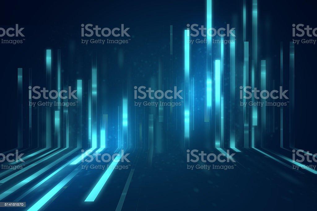 Blaue Geometrische Form abstrakt-Technologie Hintergrund – Foto