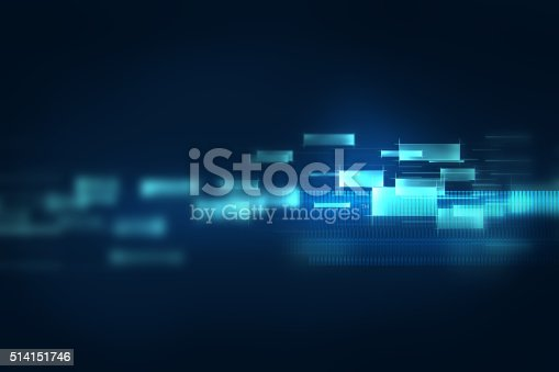 istock blue geometric  shape abstract technology background 514151746