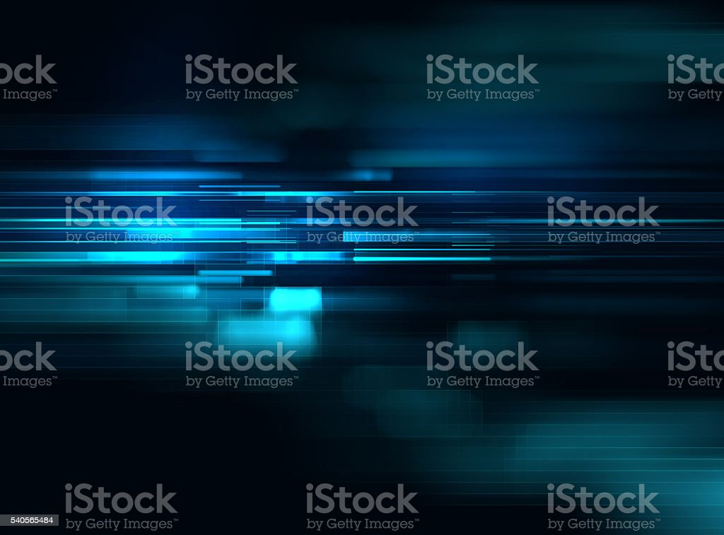 blue geometric  shape abstract technology background stock photo