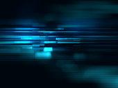 ブルーの幾何学シェイプの抽象的なテクノロジーの背景
