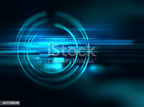 istock blue geometric  shape abstract technology background 542208048