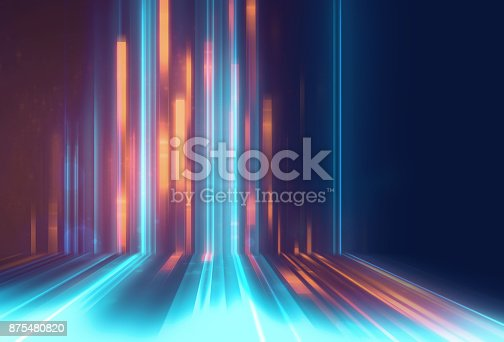 istock blue geometric  shape abstract technology background 875480820