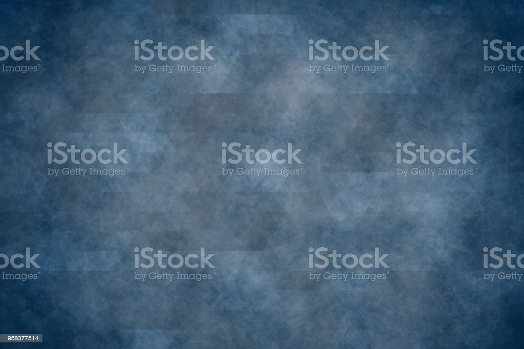 blue geometric texture or vintage grunge background stock photo