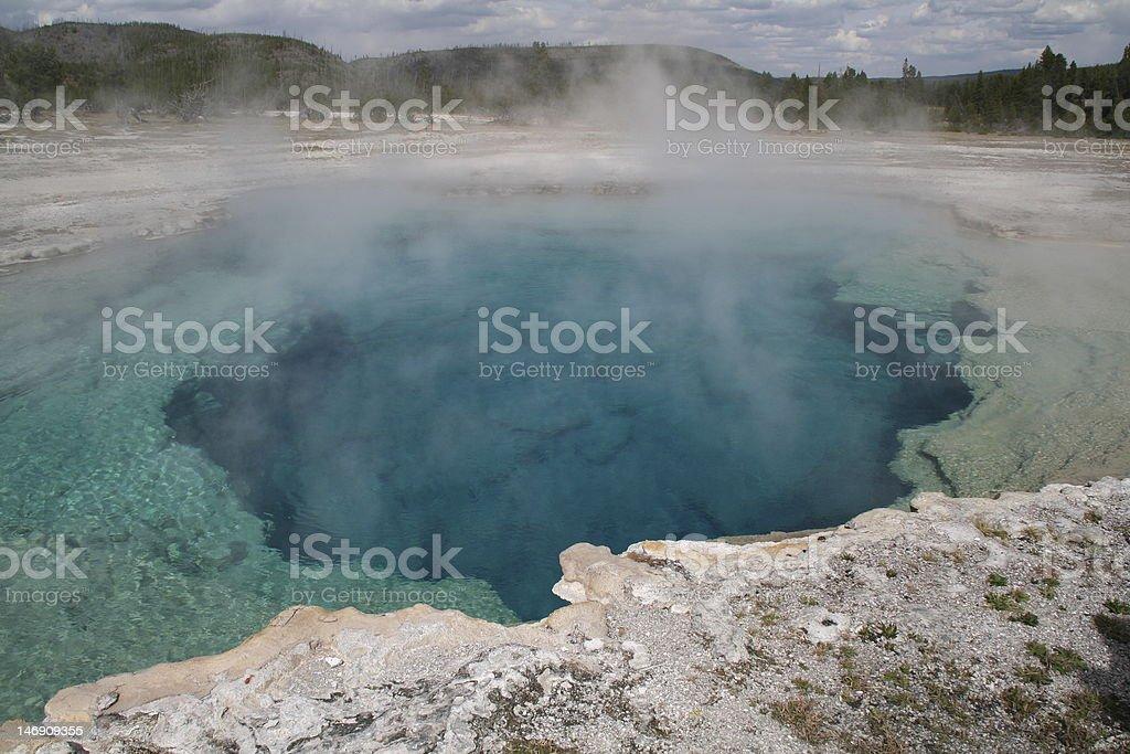 Blue Geyser royalty-free stock photo
