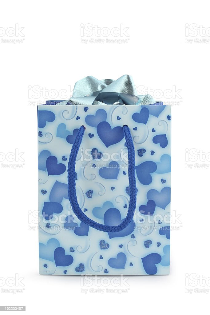 Blue Gift Bag stock photo