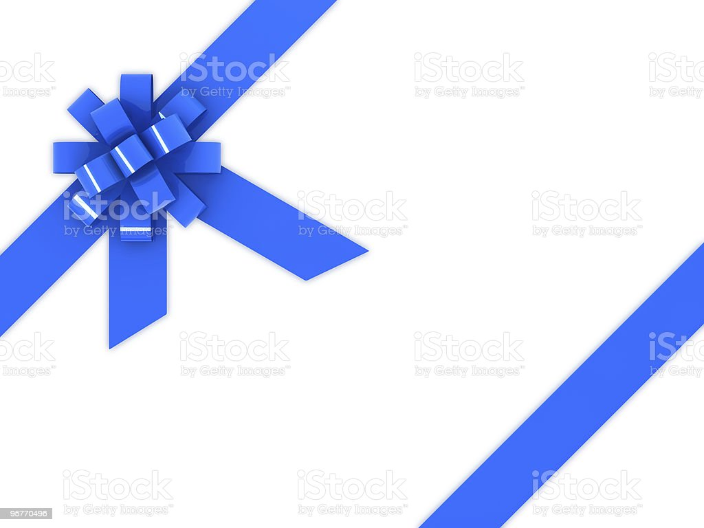 blue gift bow royalty-free stock photo