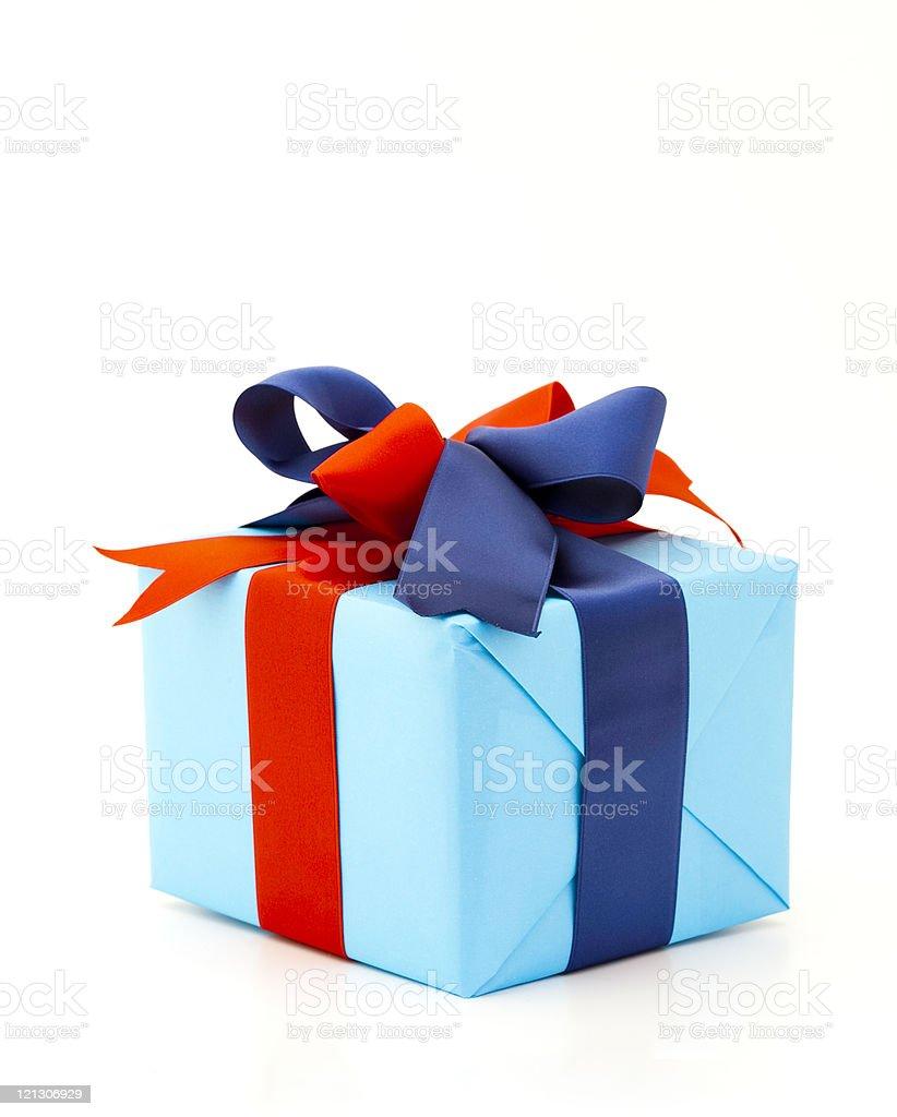 blue gift box royalty-free stock photo