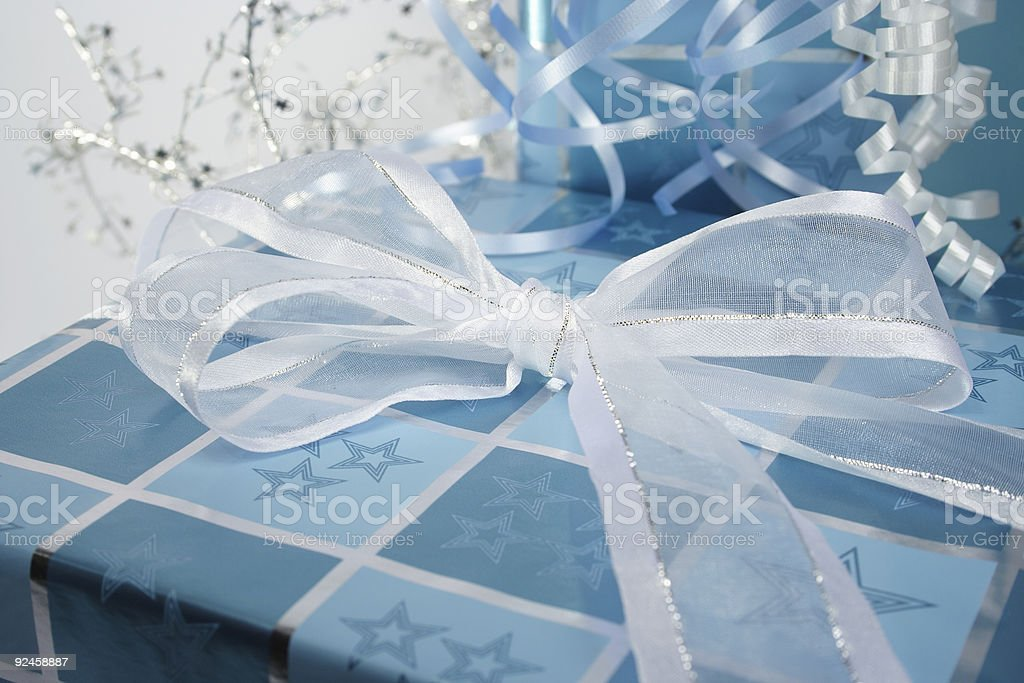 blue gifts stock photo
