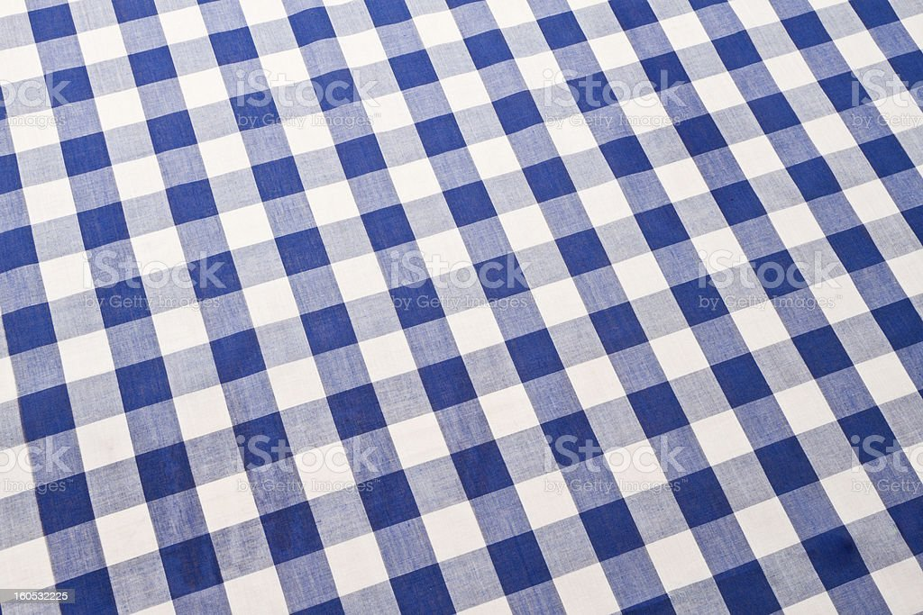 ... Blue Gingham Checked Table Cloth Stock Photo ...