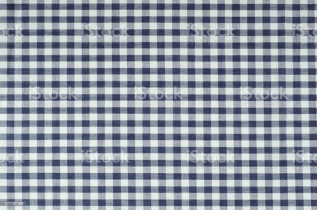 Blue Gingham stock photo
