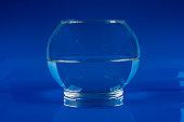 Blue glass aquarium