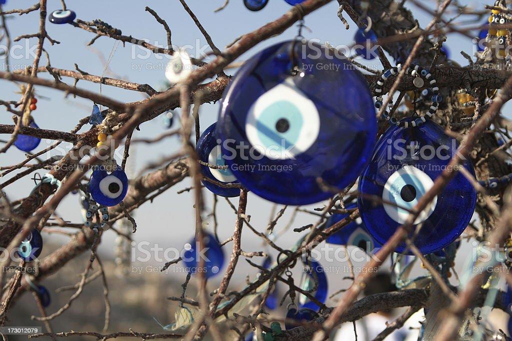 Blue glass evil eye royalty-free stock photo