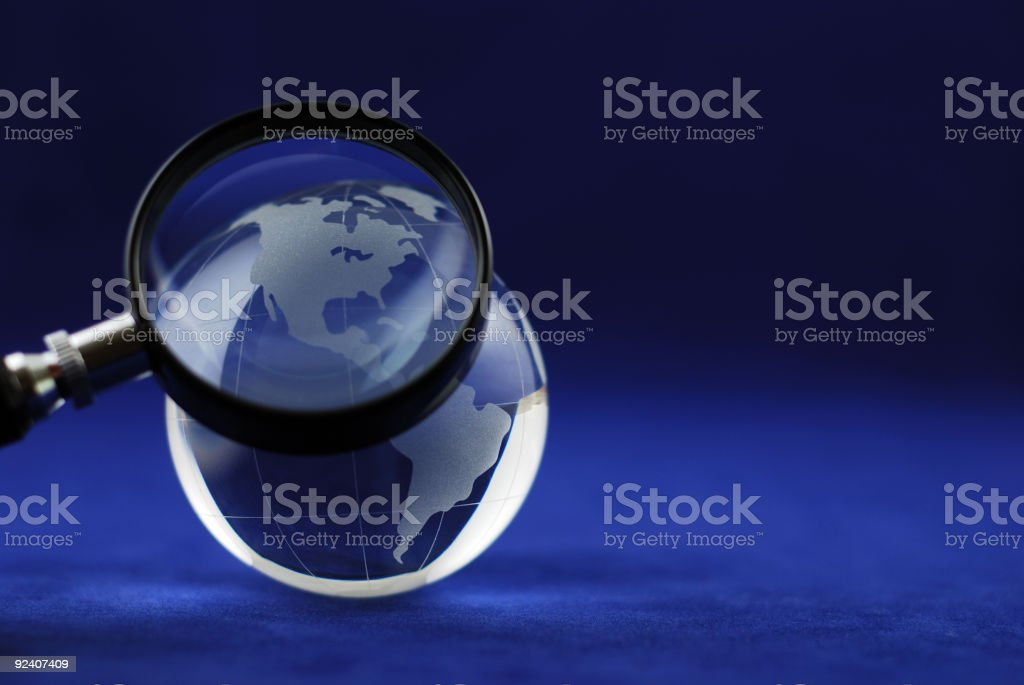 Blue glass globe royalty-free stock photo