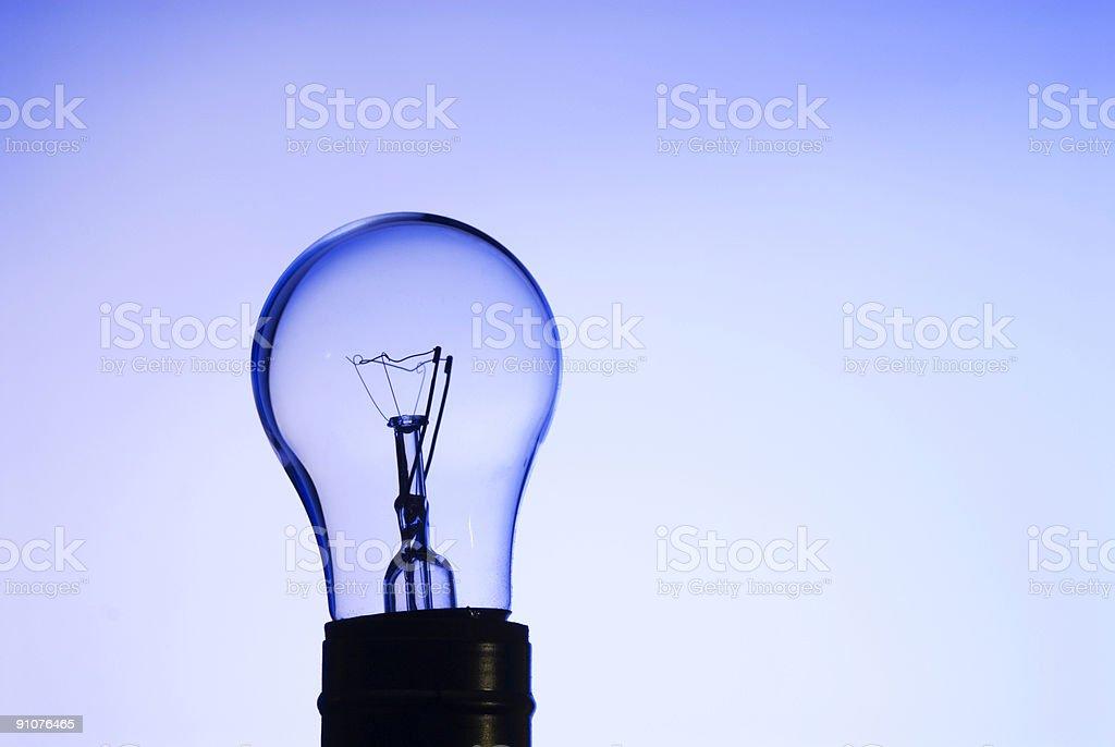 Blue Glass Light Bulb - 2 stock photo