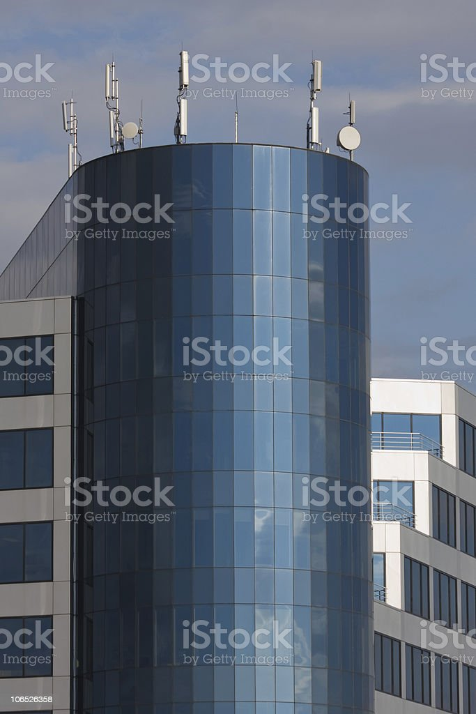 Blue glass office building royalty-free stock photo