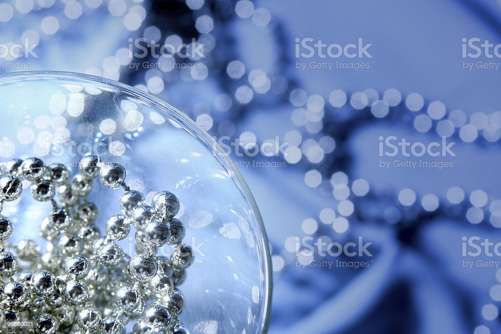 Blue glass royalty-free stock photo