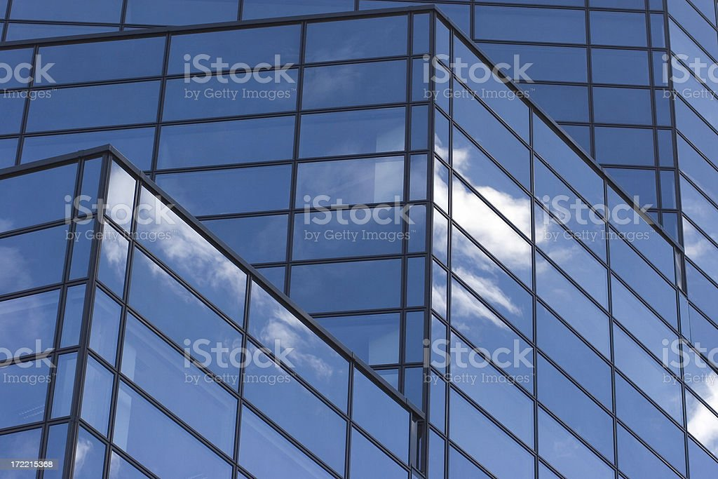 Blue glass reflections IV royalty-free stock photo