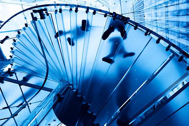 Blaues Glas-Treppe – Foto