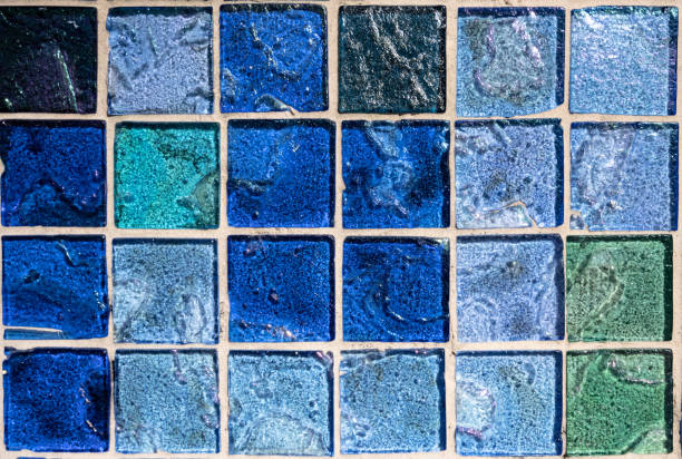 Blue Glass Tiles stock photo