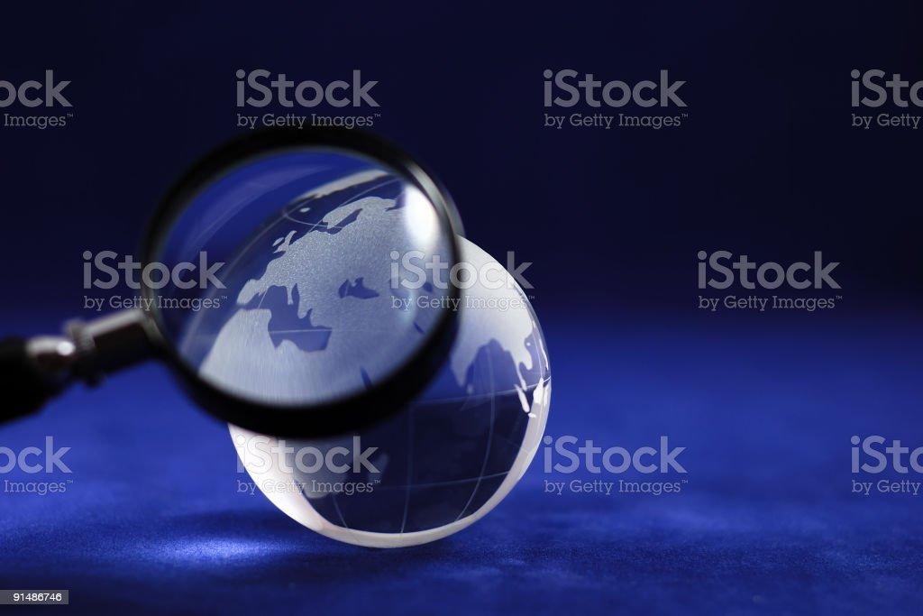 Blue glass world royalty-free stock photo