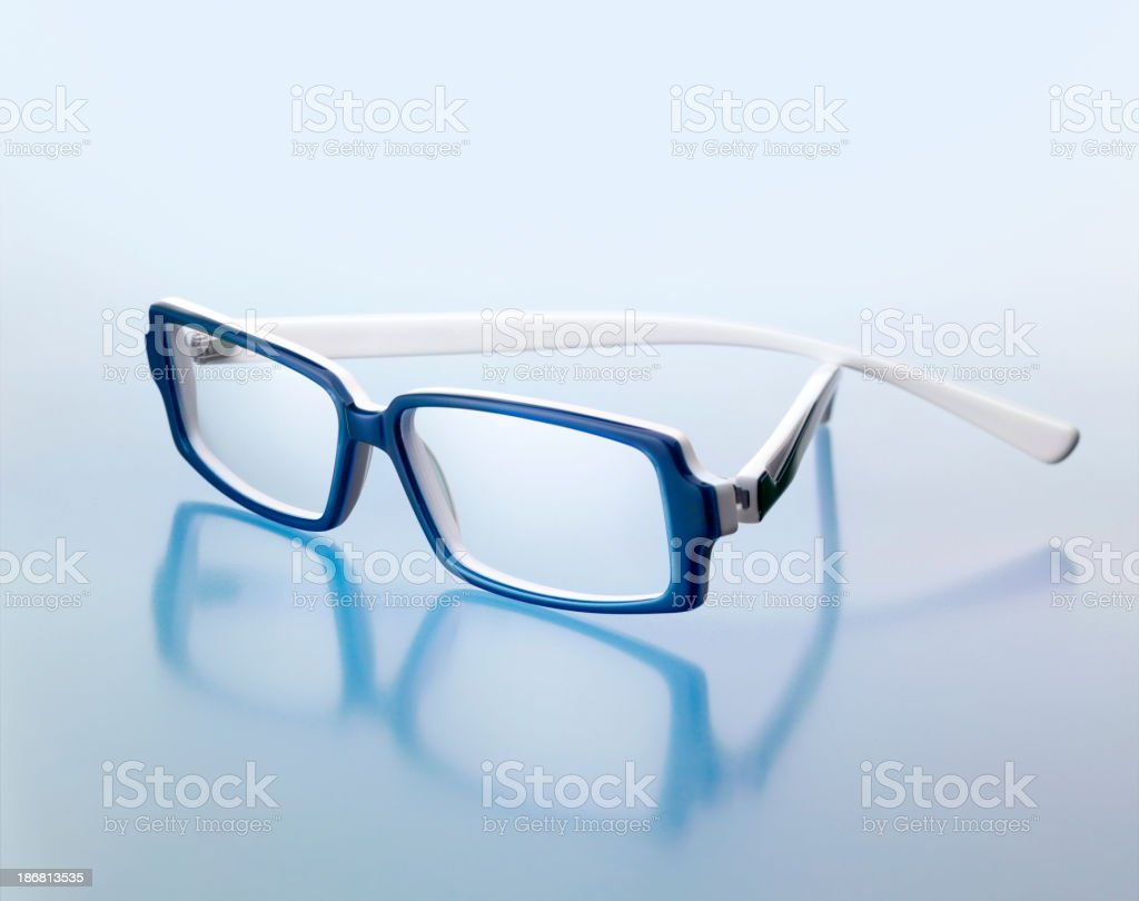Blue glasses royalty-free stock photo