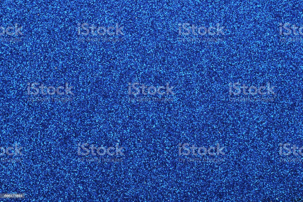 Blue glitter as abstract background stock photo