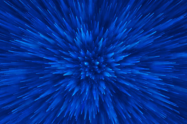 blue glitter explosion lights abstract background blue abstract explosion lights background explosive stock pictures, royalty-free photos & images
