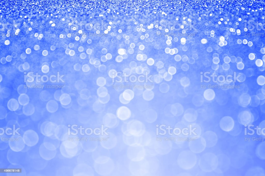Blue Glitter Sparkle Winter Background stock photo