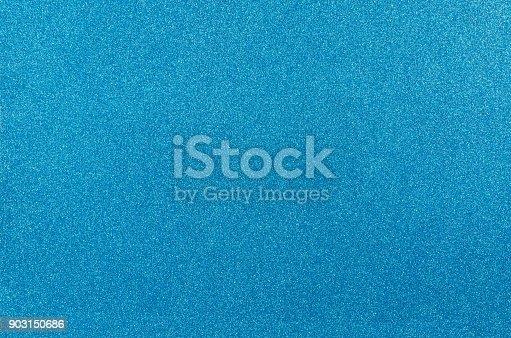 istock Blue glitter texture background. 903150686