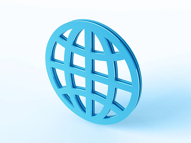 Blue Global Business Symbol 3D Render of a blue global Business symbol. Concept image for World Wide Services. Very high resolution available!Related images: blue 3d business NOT map NOT background stock pictures, royalty-free photos & images